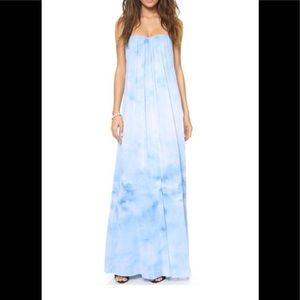 Alice + Olivia Blue Cloud Strapless Maxi Dress 4